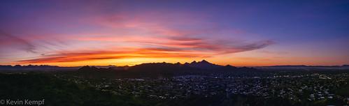 sunrise phoenix arizona clouds mountains goldenhour