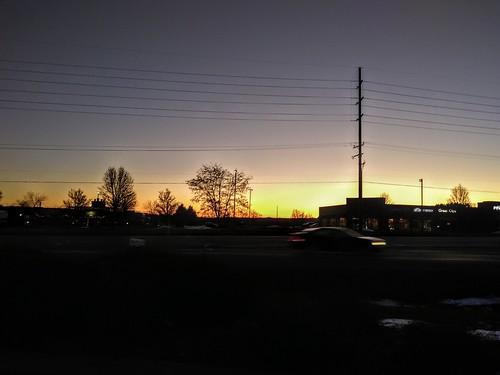 sunrise michigan winter january 2020 usa