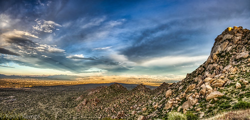 tomsthumbtrail ravenroostscenicview hdr panorama sunset clouds mountains fourpeaks mountord scottsdale arizona goldenhour