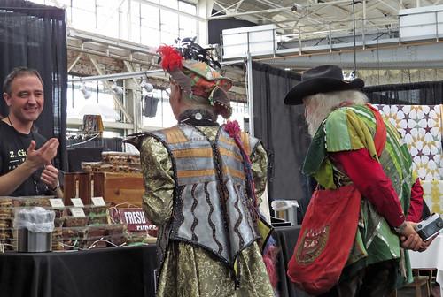 Colorful couple visitors 2019 KPFA Crafts Fair Craneway Pavilion Richmond California 191221-135819 cw50 C4
