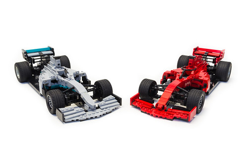 Ferrari SF90 and Mercedes-AMG F1 W10 EQ Power+