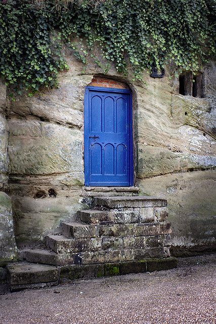 Blue Door for a Rock Cavern.