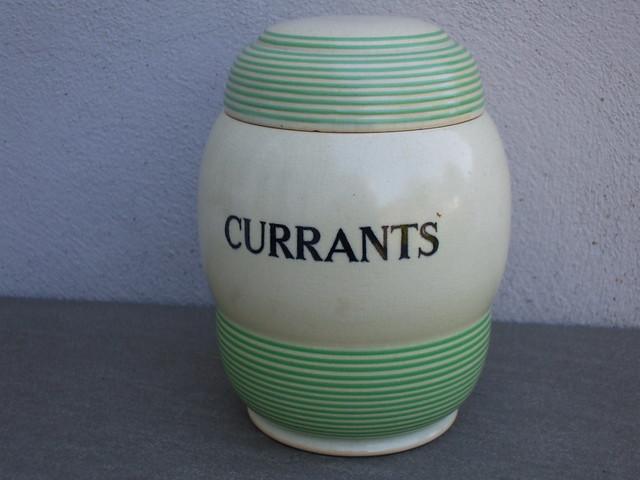 Vintage T.G Green Art Deco Streamline Range Currants Kitchen Storage Jar