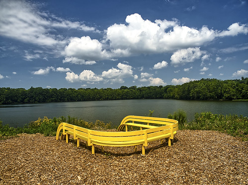 indianapolismuseumofart landscape lake bench artwork virginiabfairbanksartandnaturepark