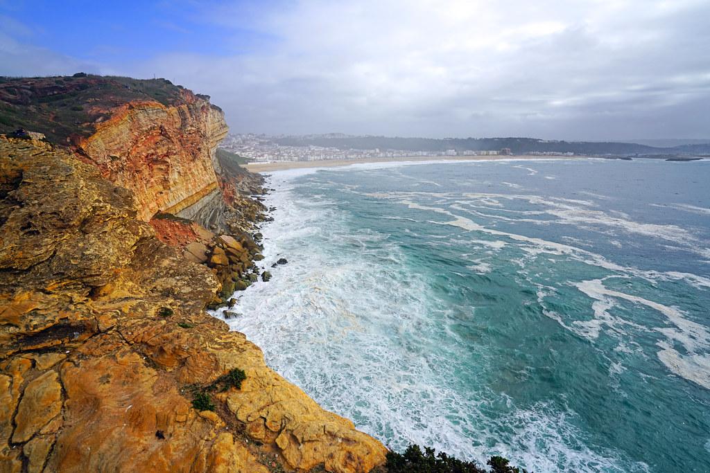 Nazaré coastline, Portugal