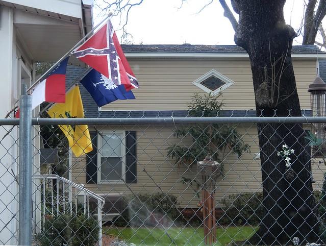 flags, crucifix