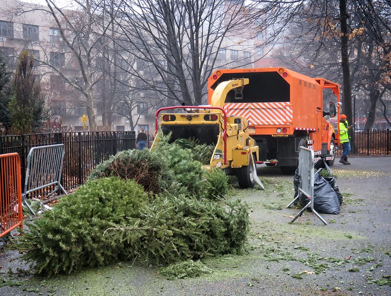 Gearing up for Mulchfest 2020 in Tompkins Square Park