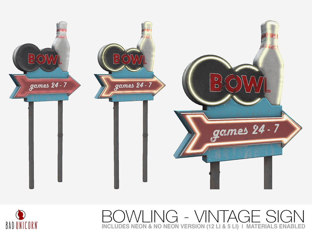 NEW! Bowling – Vintage Sign @ TMD