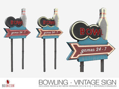 NEW! Bowling - Vintage Sign @ TMD