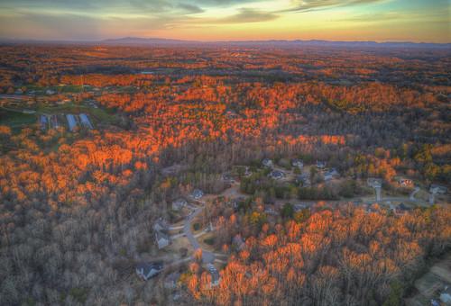 ronmayhew dji mavic proforsyth county sunrise trees sky aerial hdr