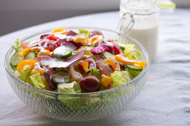 Colourful Salad with Lemon Poppyseed Dressing