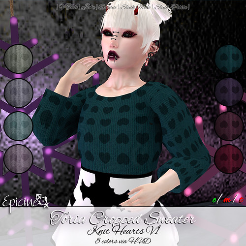 Epicine - Toria Cropped Sweater - Knit Hearts v1 Ad