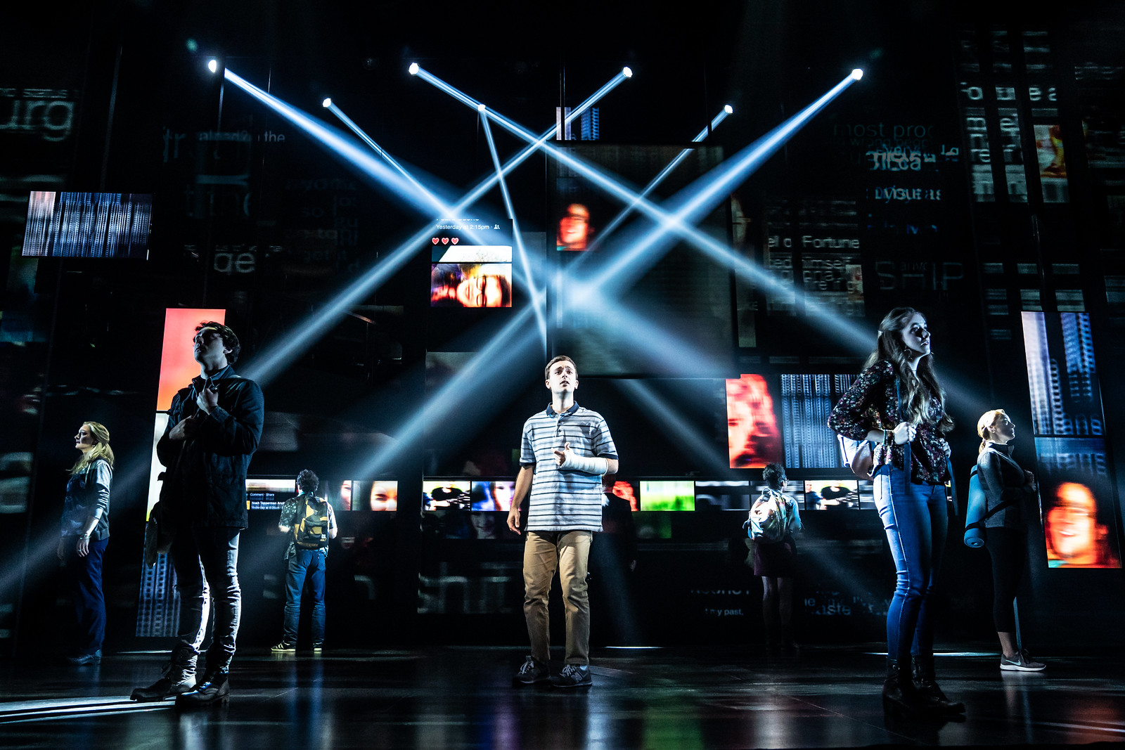 Wading in Big Shoes - Broadway In Detroit: 'Dear Evan Hansen' at the Fisher Theatre (photo by Matthew Murphy)