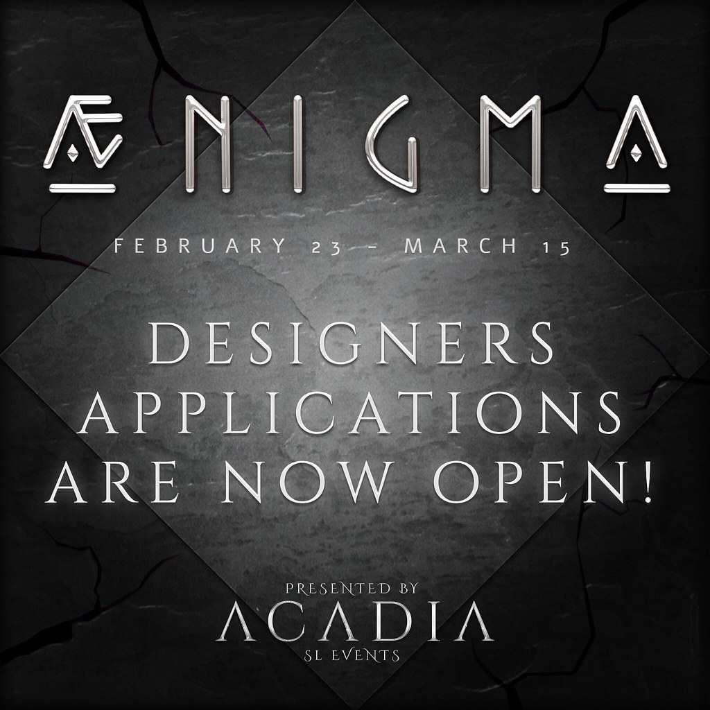 Aenigma // Designer Applications are OPEN