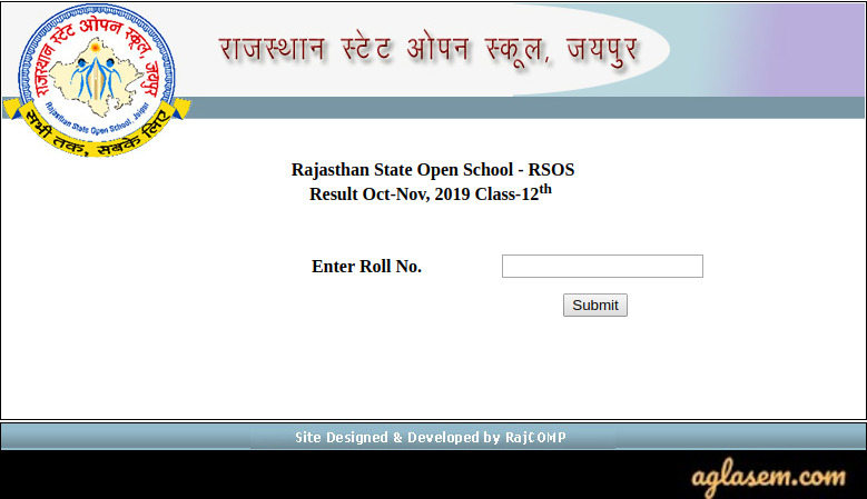 RSOS 12th Result Oct - Nov 2019 (Released!) | Rajasthan State Open School Result