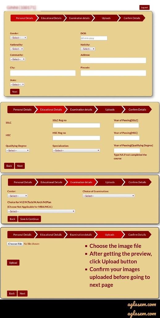 TANCET 2020 application form