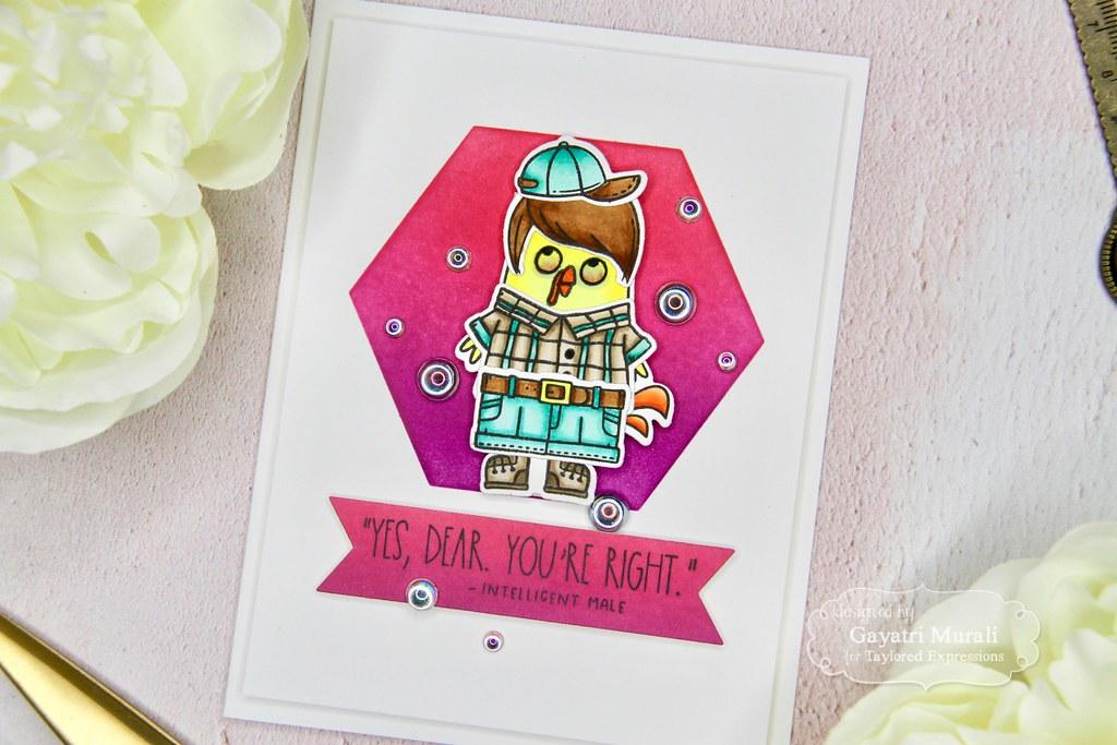 Gayatri Scarastic Chuck card closeup