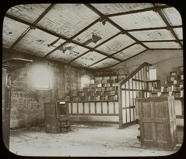 The chapel at Port Arthur convict prison in Tasmania - 1880s