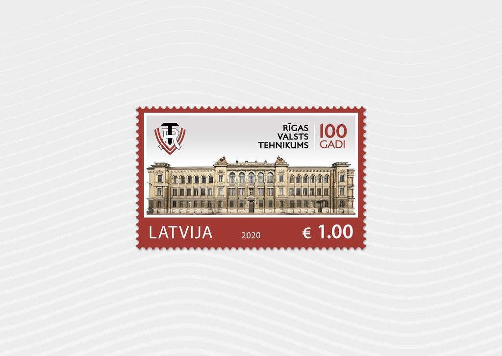 Pastmarka - Rīgas Valsts tehnikumam 100 - Latvijas Pasts - Flickr