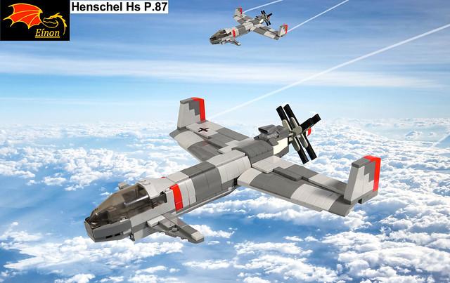 Two Henschel Hs P.87 on patrol