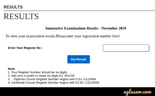 Devanga Arts College Result 2020