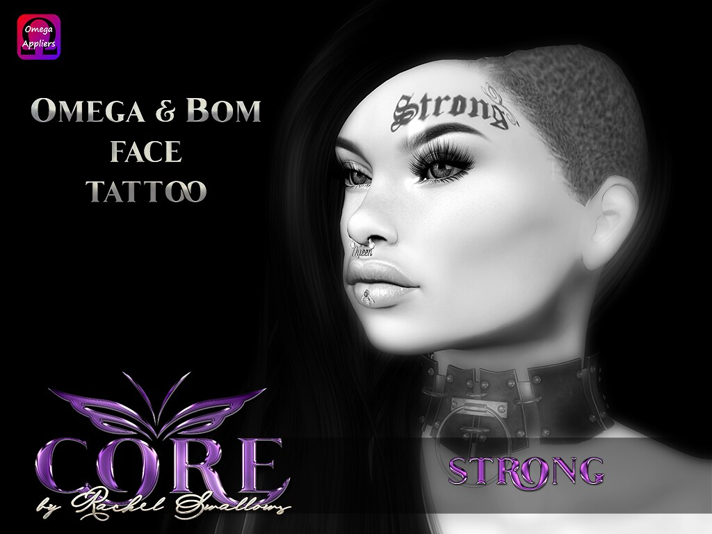 CORE STRONG FACE TATTOO