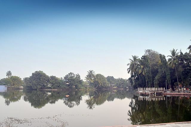Talav(Lake) in Dandi, Navasari, India.