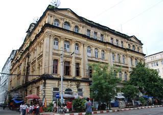 BIRMANIE  RANGOON Lokanat Building