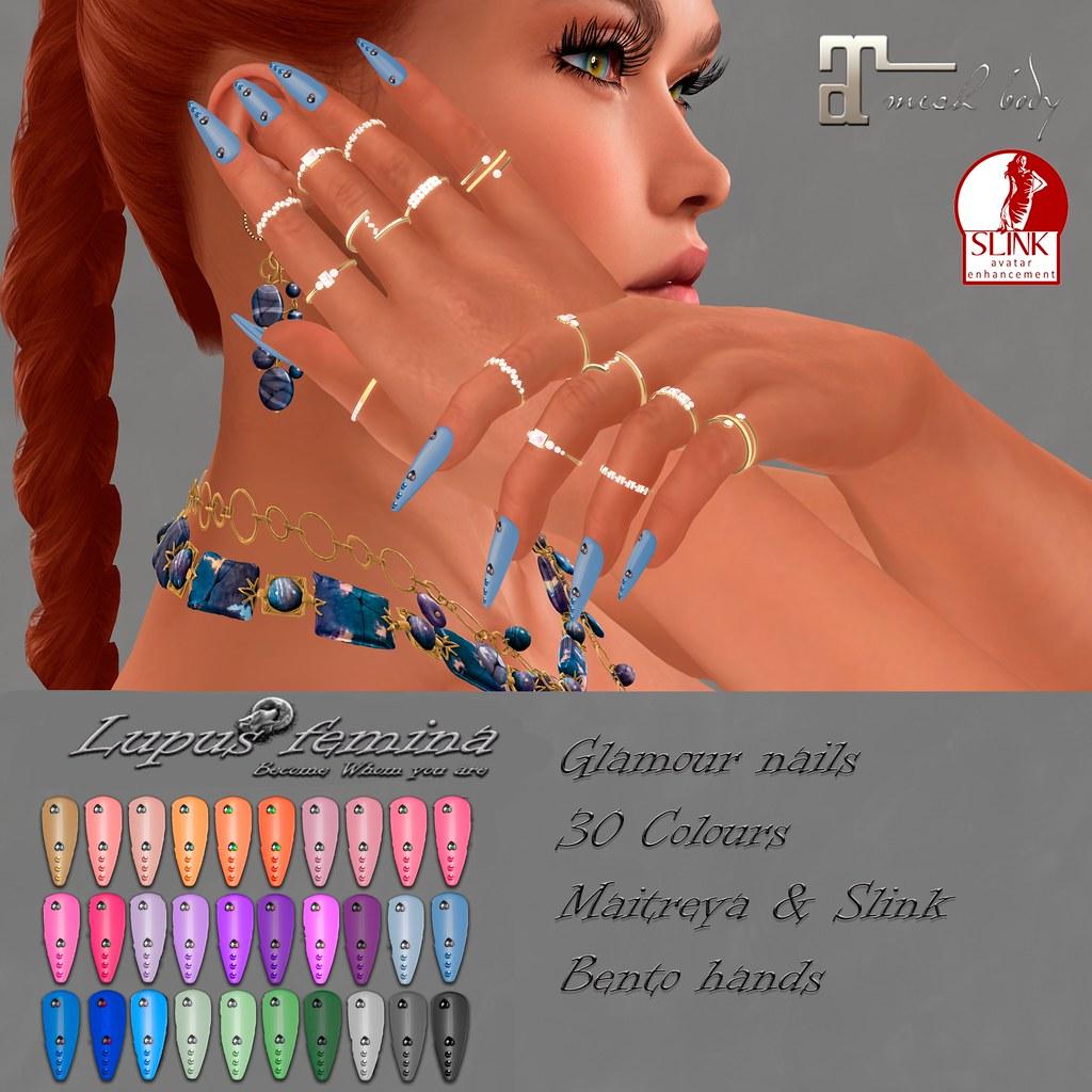 """""""Lupus Femina"""" Glamour nails – Maitreya, Slink"""