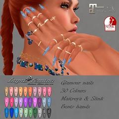 """""""Lupus Femina"""" Glamour nails - Maitreya, Slink"""