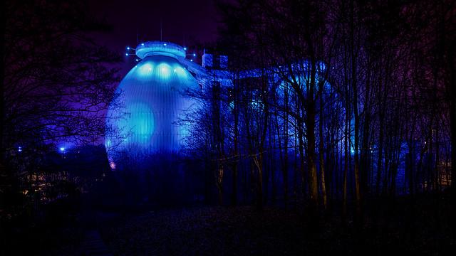 Blue eggs in the dark