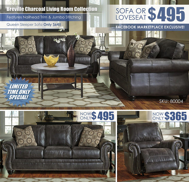 Breville Charcoal Your Choice Sofa Loveseat Sleeper Recliner Layout_80004
