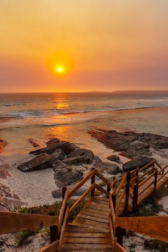 esperance 11milebeach sunset ocean rocks sand beach australia stphotographia