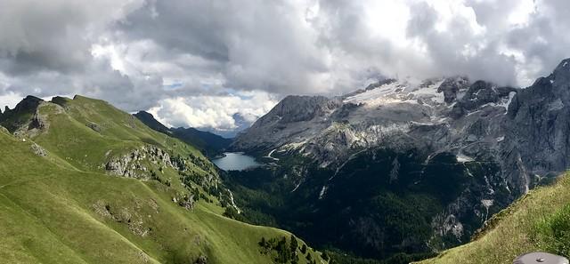 Marmolada and Lago de Fedaia Pano