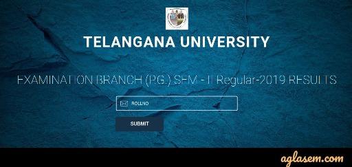 Telangana University Result 2020