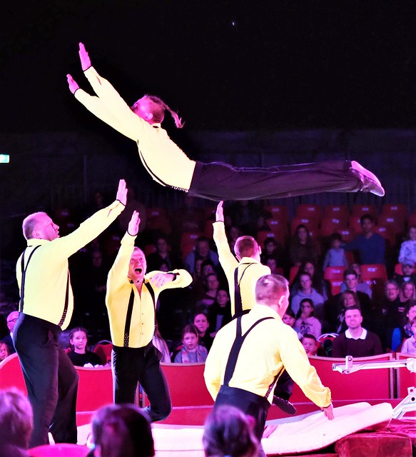 Flying to the Stars - Acrobats in Germany during Circus Shows in Heidelberg 2019