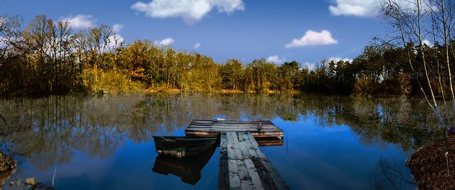 étang et ponton