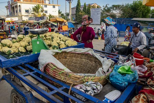 Market on the Road; Phnom Penh