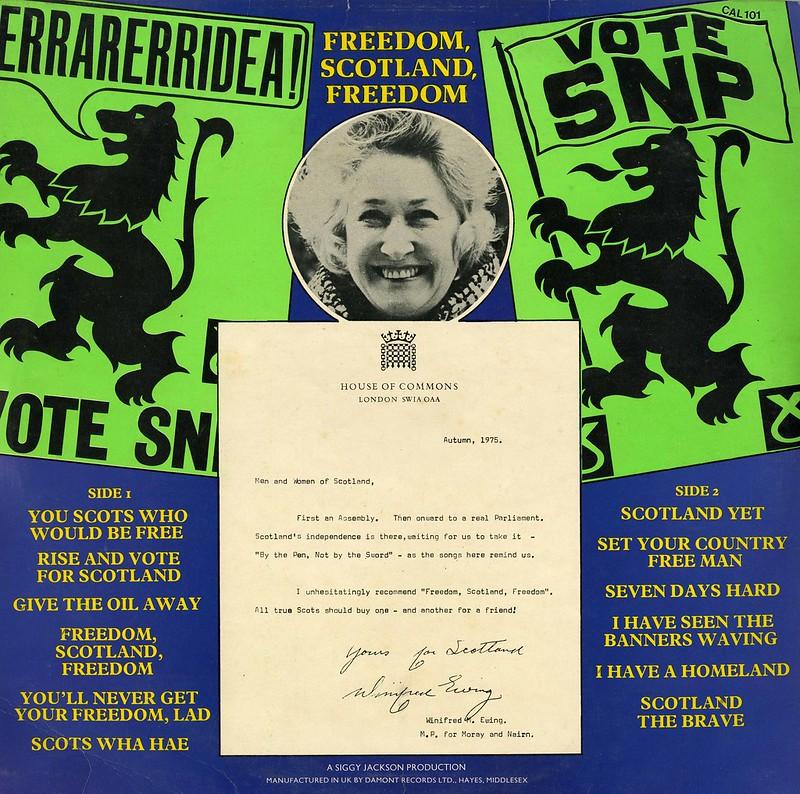 Freedom, Scotland, Freedom.  Songs of the SNP vinyl record.  1975