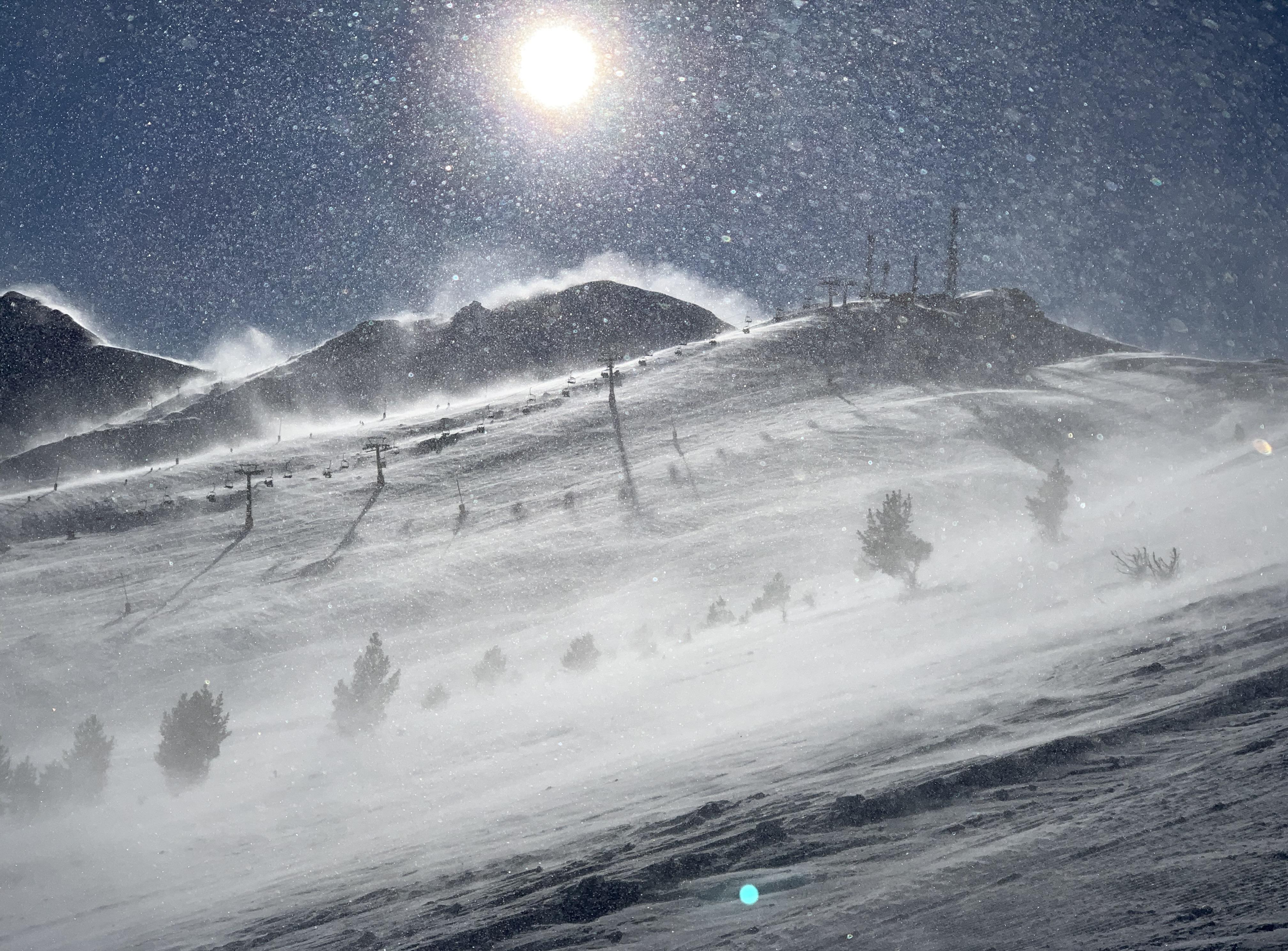 El viento en Cerler - Foto: nacho.tv
