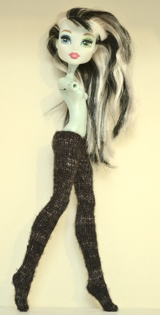 Free Monster High Tights Knitting Pattern