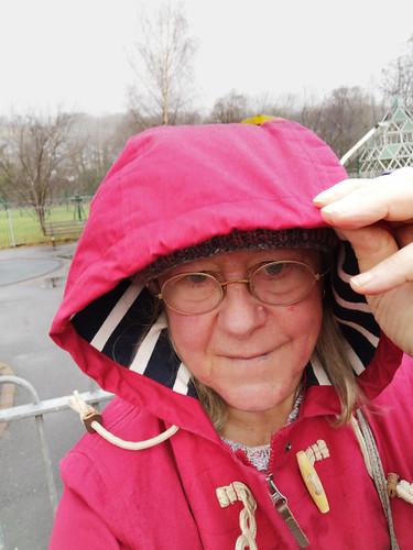 Rushing through the rain