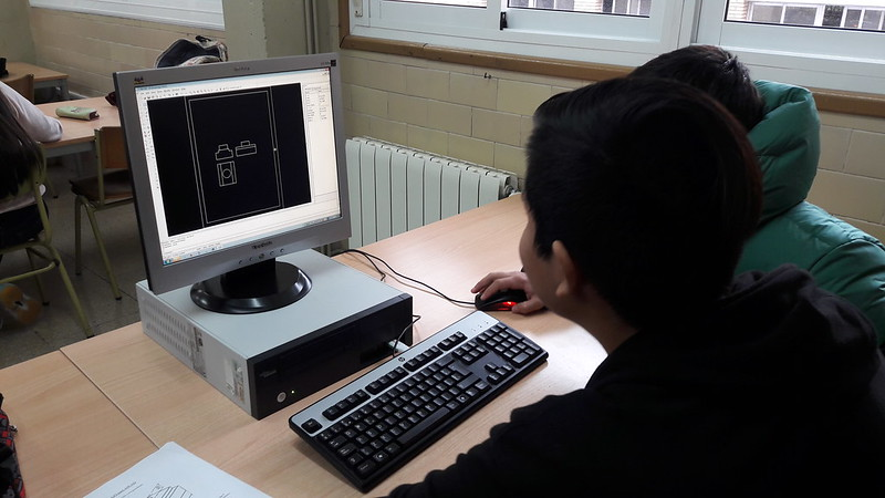 Diseño asistido por ordenador (CAD) en Tecnología de 3ºESO