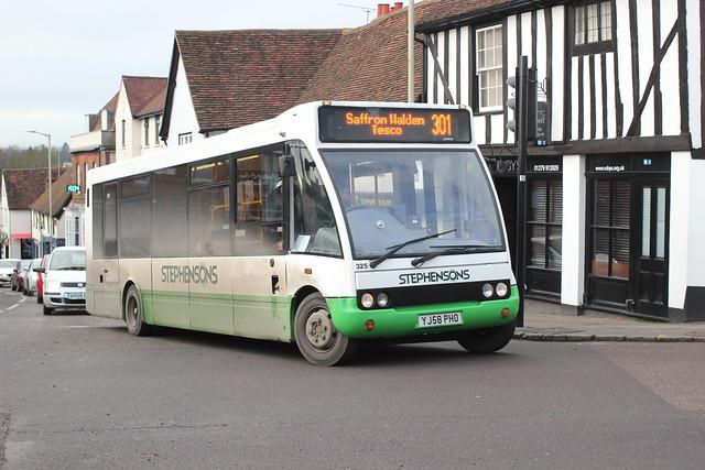 Stephensons of Essex . Rochford , Essex . 325 YJ58PHO . Hockrill , Bishop's Stortford , Hertfordshire . Tuesday 07th-January-2020 .