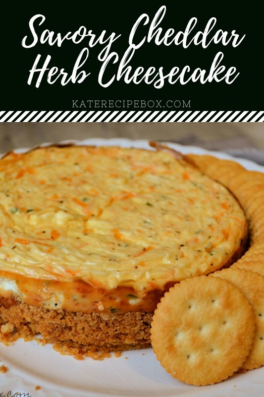 Savory Cheddar Herb Cheesecake