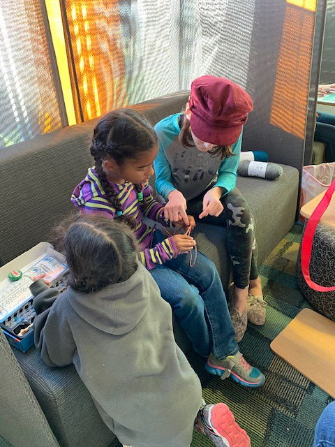 Learning to knit at the Scotts Valley library