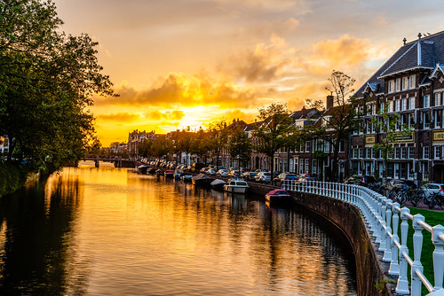 haarlem sunset holland canal netherland bestcapturesaoi elitegalleryaoi aoi