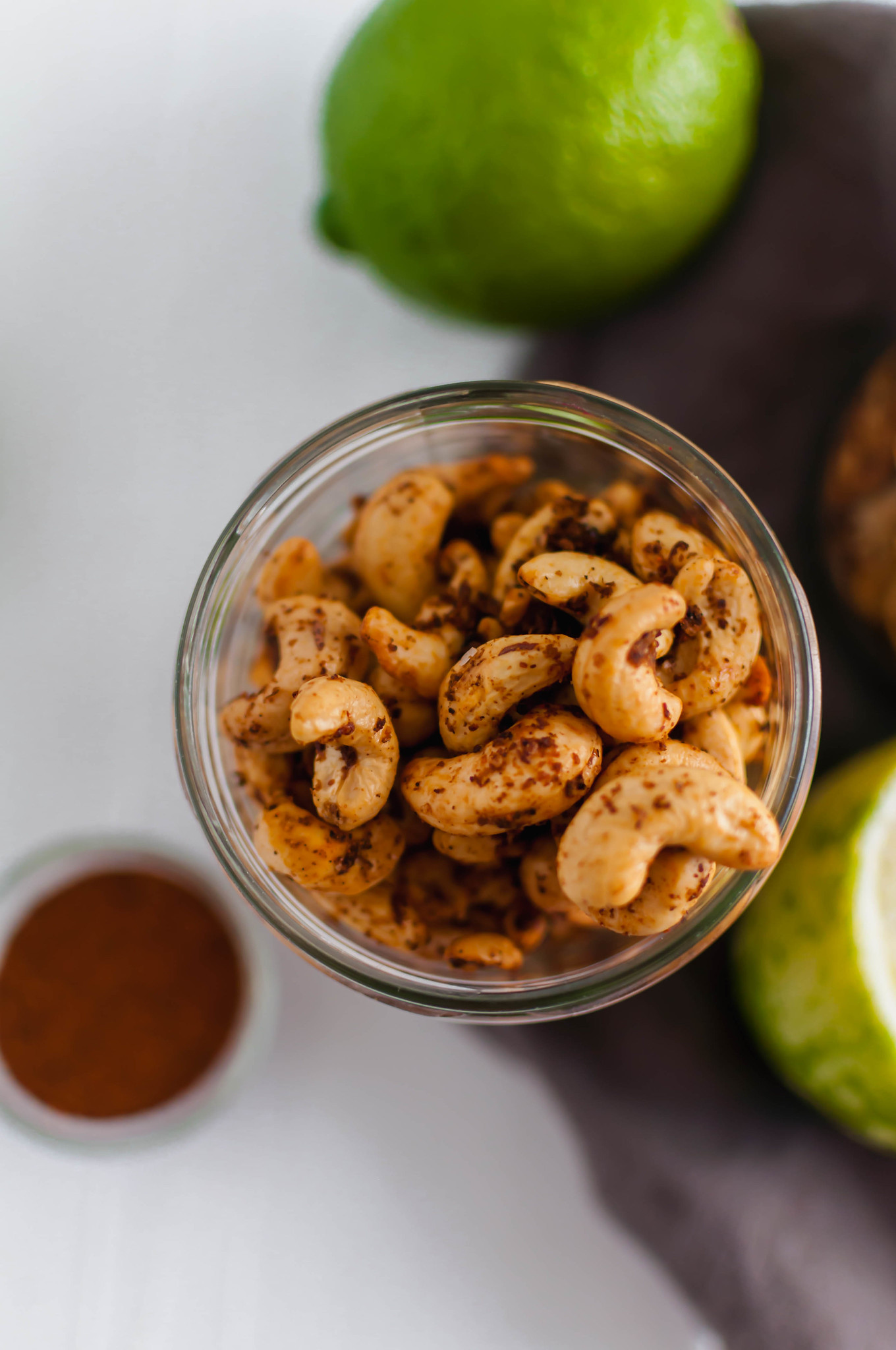 Meet your new snack addiction, Chili Lime Cashews. Spiced with chili powder, fresh lime zest and juice then roasted to crunchy perfection.