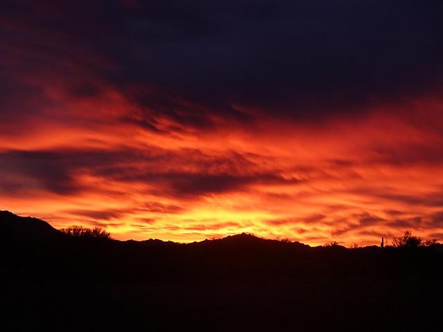 Sunrise on Dec 30th at BLM Roadrunner Camp SR601667