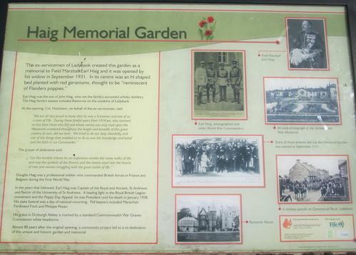 Information Board Haig Memorial Garden, Ladybank